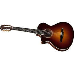 Taylor 712ce-N-L Rosewood/Spruce Nylon String Grand Concert Left-Handed Acoustic-Electric Guitar (712CE-N-L-2012)