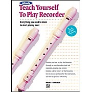Alfred Teach Yourself to Play Recorder Book