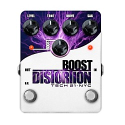Tech 21 Boost Distortion Analog Distortion Guitar Effects Pedal (BST-D)