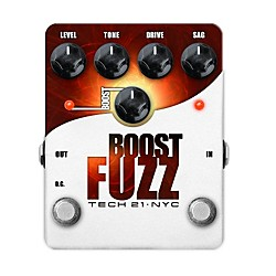Tech 21 Boost Fuzz Analog Fuzz Guitar Effects Pedal (BST-F)