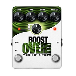 Tech 21 Boost Overdrive Analog Overdrive Guitar Effects Pedal (BST-O)