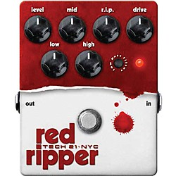Tech 21 Red Ripper Distortion Bass Effects Pedal (RIP)