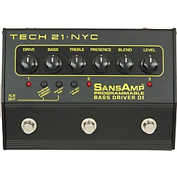 Tech 21 SansAmp 3-Channel Programmable Bass Driver DI (PBDR)