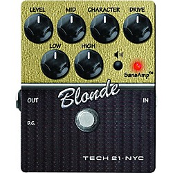 Tech 21 SansAmp Character Series Blonde V2 Distortion Guitar Effects Pedal (CS-BL-V2)