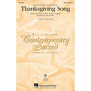Hal Leonard Thanksgiving Song SATB by Mary Chapin Carpenter arranged by John Purifoy
