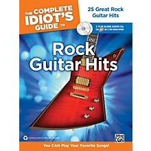 Alfred The Complete Idiot's Guide to Rock Guitar Hits Tab Book/ 2 CDs