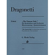 G. Henle Verlag The Famous Solo for Double Bass and Orchestra by Domenico Dragonetti Edited by Tobias Glöckler