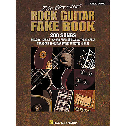 Hal Leonard The Greatest Rock Guitar Fake Book