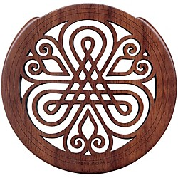 "The Lute Hole Company 4"" Soundhole Covers for Feedback Control in Maple or Walnut (02WA)"