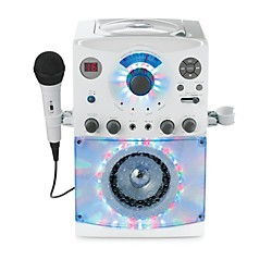 The Singing Machine Top Load Karaoke System with Disco Lights (SML385W)