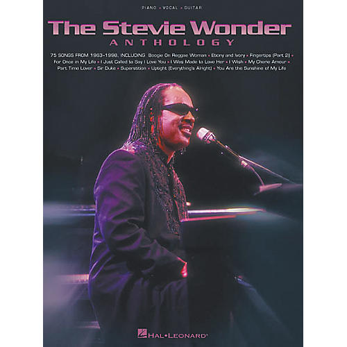 Hal Leonard The Stevie Wonder Anthology Piano, Vocal, Guitar Songbook-thumbnail