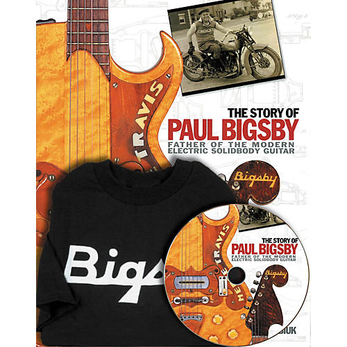 Hal Leonard The Story Of Paul Bigsby Book/CD And T-Shirt Package-thumbnail
