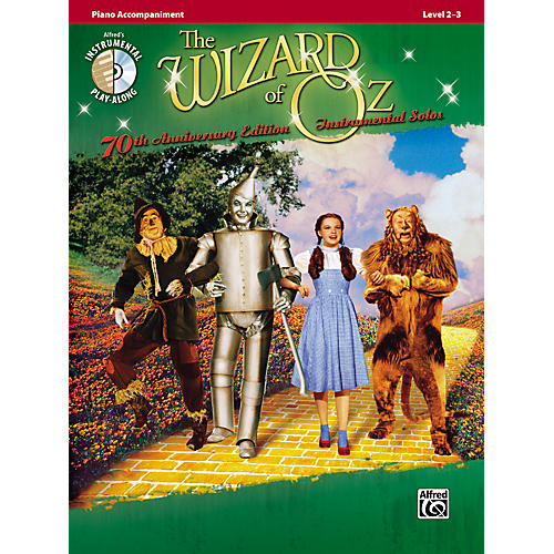 Alfred The Wizard of Oz 70th Anniversary Edition Instrumental Solos: Piano Accompaniment (Songbook/CD)