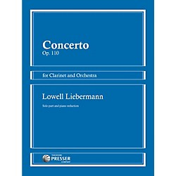Theodore Presser Concerto Op. 110 for Clarinet and Orchestra (114-41392)