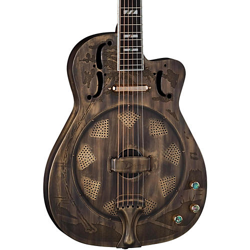 Dean Thinbody Cutaway Acoustic-Electric Resonator Guitar Heirloom Brass