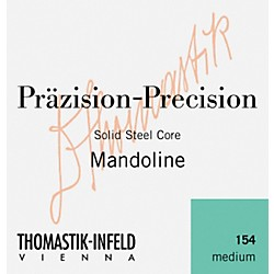 Thomastik 154 Tin-Plated Steel Flatwound Medium Mandolin Strings (154)