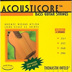 Thomastik AB344 Acousticore Phosphor Bronze 4-String Bass Strings (AB344)
