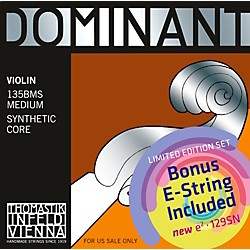 Thomastik Dominant 135BMS Bonus Set with Free Dominant Tin-Plated E String (135BMS_129SN)
