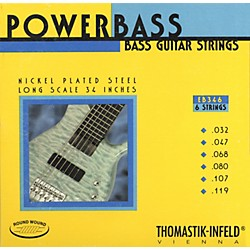 Thomastik EB346 Medium Light Power Bass Roundwound 6-String Bass Strings (EB346)