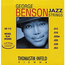 Thomastik GB112 Medium Light George Benson Custom Flatwound Guitar Strings (GB112)