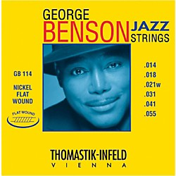 Thomastik GB114 George Benson Custom Heavy Flatwound Jazz Guitar Strings (GB114)