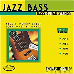 Thomastik JF344 Flatwound Long Scale 4-String Jazz Bass Strings (JF344)