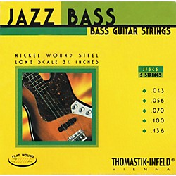 Thomastik JF345 Flatwound 5-String Jazz Bass Strings (JF345)