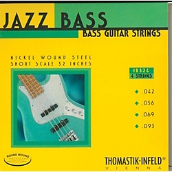 Thomastik JR324 Roundwound Jazz Series Short-Scale Electric Bass Strings (JR324)