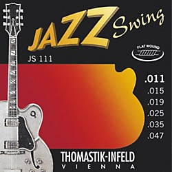 Thomastik JS111 Light Flatwound Jazz Swing Electric Guitar Strings (JS111)