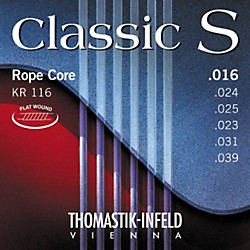 Thomastik KR116 Classic S Series Flatwound Light Guitar Strings (KR116)