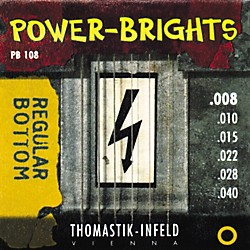 Thomastik PB108 Power-Brights Bottom Extra Light Guitar Strings (PB108)