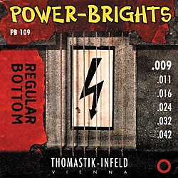 Thomastik PB109 Power-Brights Bottom Light Guitar Strings (PB109)