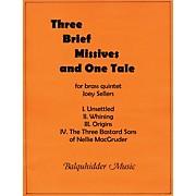 Carl Fischer Three Brief Missives Book