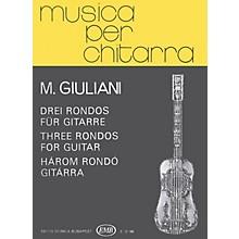 Editio Musica Budapest Three Rondos (Guitar Solo) EMB Series Composed by Mauro Giuliani
