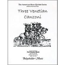 Carl Fischer Three Venetian Canzoni Book