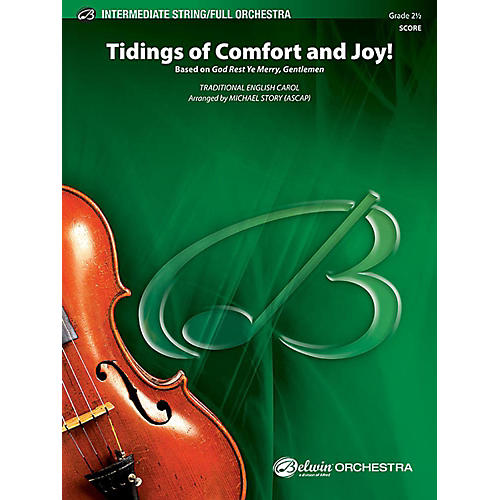 Alfred Tidings of Comfort and Joy! Full Orchestra Grade 2.5 Set-thumbnail