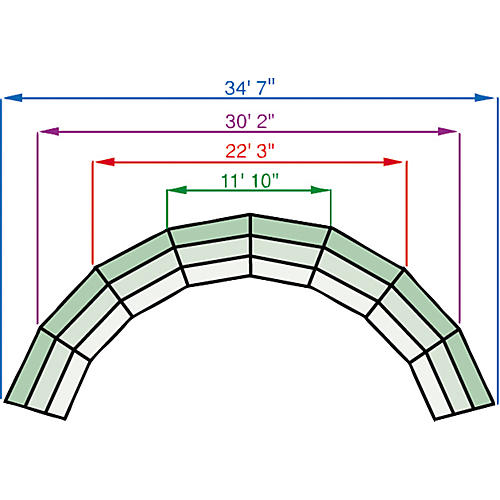 Midwest Folding Products Tiered Tapered Standing Choral Risers 4 Level, Pewter Gray Carpet-thumbnail
