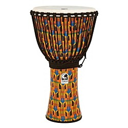 Toca Freestyle Kente Cloth Rope Tuned Djembe (SFDJ-14KB)