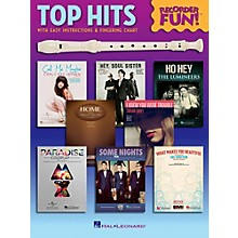 Hal Leonard Top Hits - Recorder Fun!  Songbook with Easy Instructions & Fingering Chart