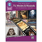 Alfred Top Hits from TV, Movies & Musicals Instrumental Solos Alto Saxophone Book & CD, Level 2-3