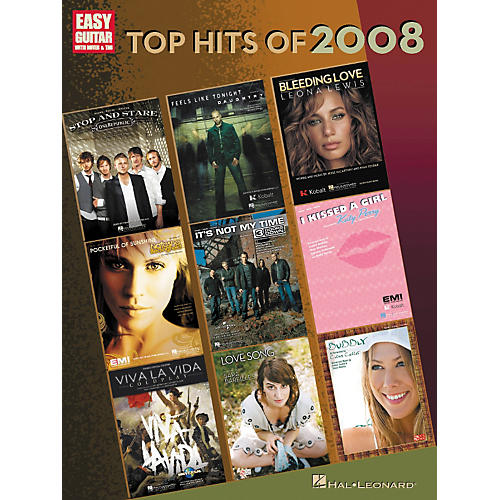 Hal Leonard Top Hits of 2008 for Easy Guitar w/Tab