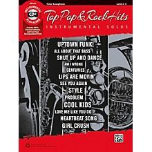 Alfred Top Pop & Rock Hits Instrumental Solos Tenor Saxophone Book & CD