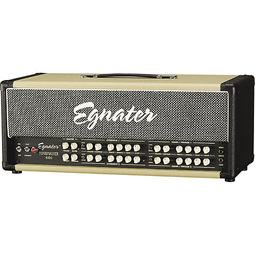 Egnater Tourmaster Series 4100 100W All-Tube Guitar Amp Head Black, Beige