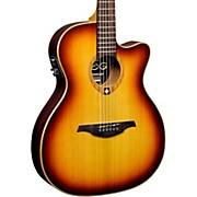 Lag Guitars Tramontane T100ASCE Slim-line Auditorium Cutaway Acoustic-Electric Guitar