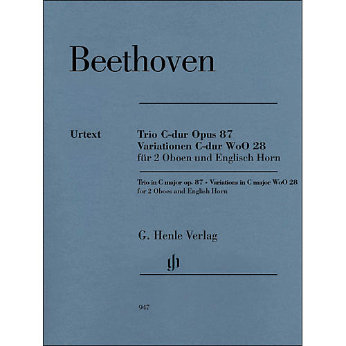 G. Henle Verlag Trio In C Major Op. 87 Variations In C Major Woo28 for 2 Oboes And English Horn By Beethoven / Voss-thumbnail