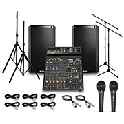 Alto Truesonic TS212 with Peavy PV10BT Mixer PA System