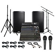 Alto Truesonic TS212 with Peavy PV14BT Mixer PA System