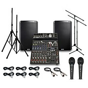 Alto Truesonic TS215 with Peavy PV10BT Mixer PA System