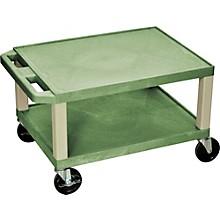 "H. Wilson Tuffy Plastic 16"" 2 Shelf Utility Cart"