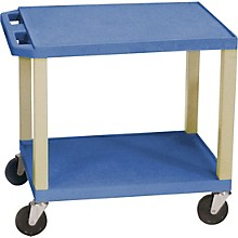 "H. Wilson Tuffy Plastic 26"" 2 Shelf Utility Cart"